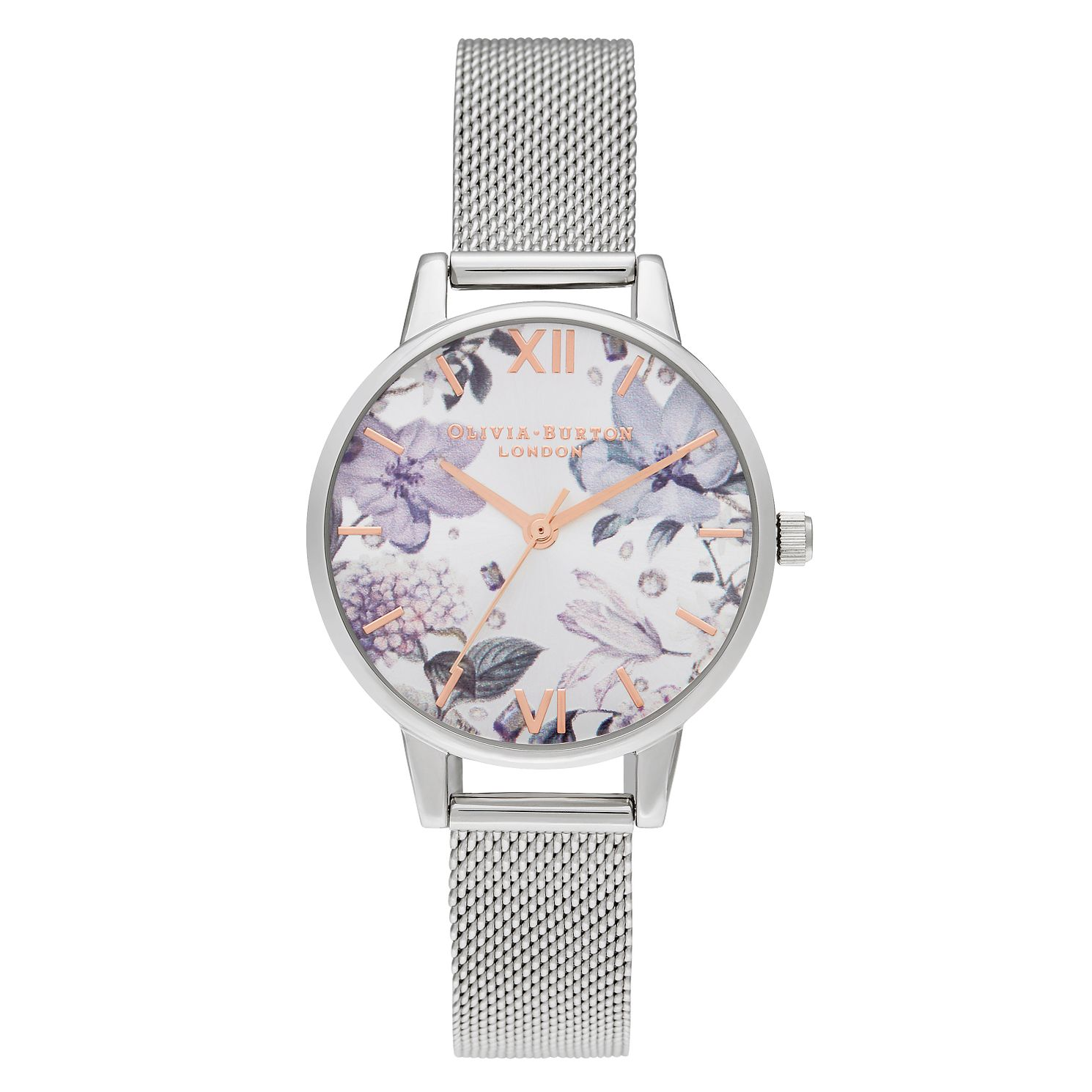 Olivia Burton Bejewelled Florals Ladies' Mesh Bracelet Watch - Product number 2056917