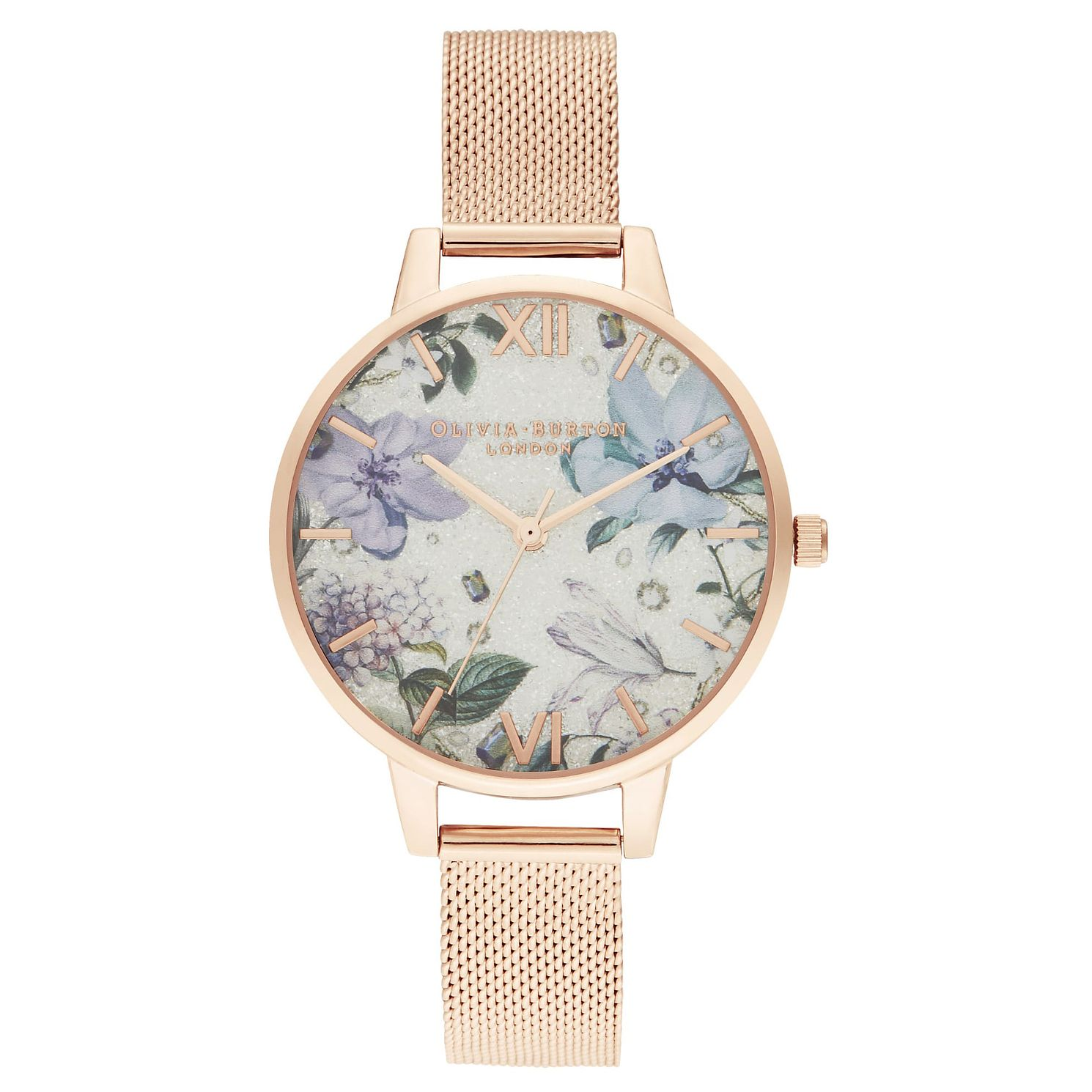Olivia Burton Glitter Bejewelled Rose Gold Bracelet Watch - Product number 2058650
