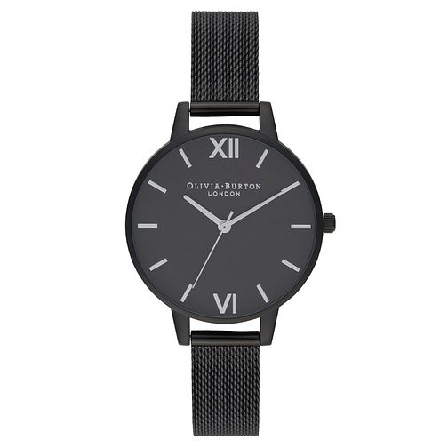 Olivia Burton After Dark Black Mesh Bracelet Watch - Product number 2059991