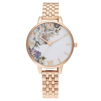 Olivia Burton Enchanted Garden Rose Gold Tone Bracelet Watch - Product number 2060000