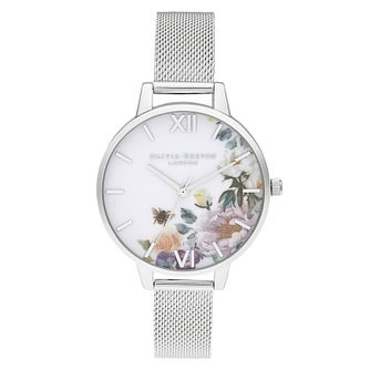 Olivia Burton Enchanted Garden Silver Tone Bracelet Watch - Product number 2060019
