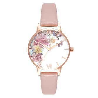 Olivia Burton Enchanted Garden Pink Vegan Strap Watch - Product number 2060027