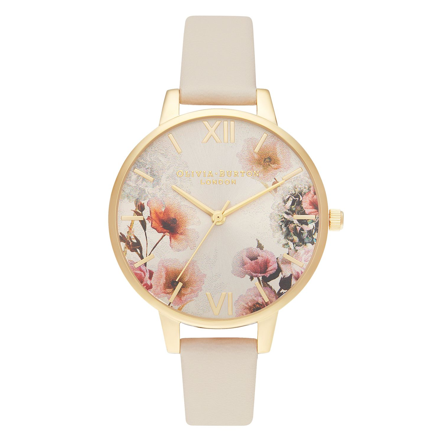 Olivia Burton Sunlight Floral Nude Vegan Leather Strap Watch - Product number 2060051
