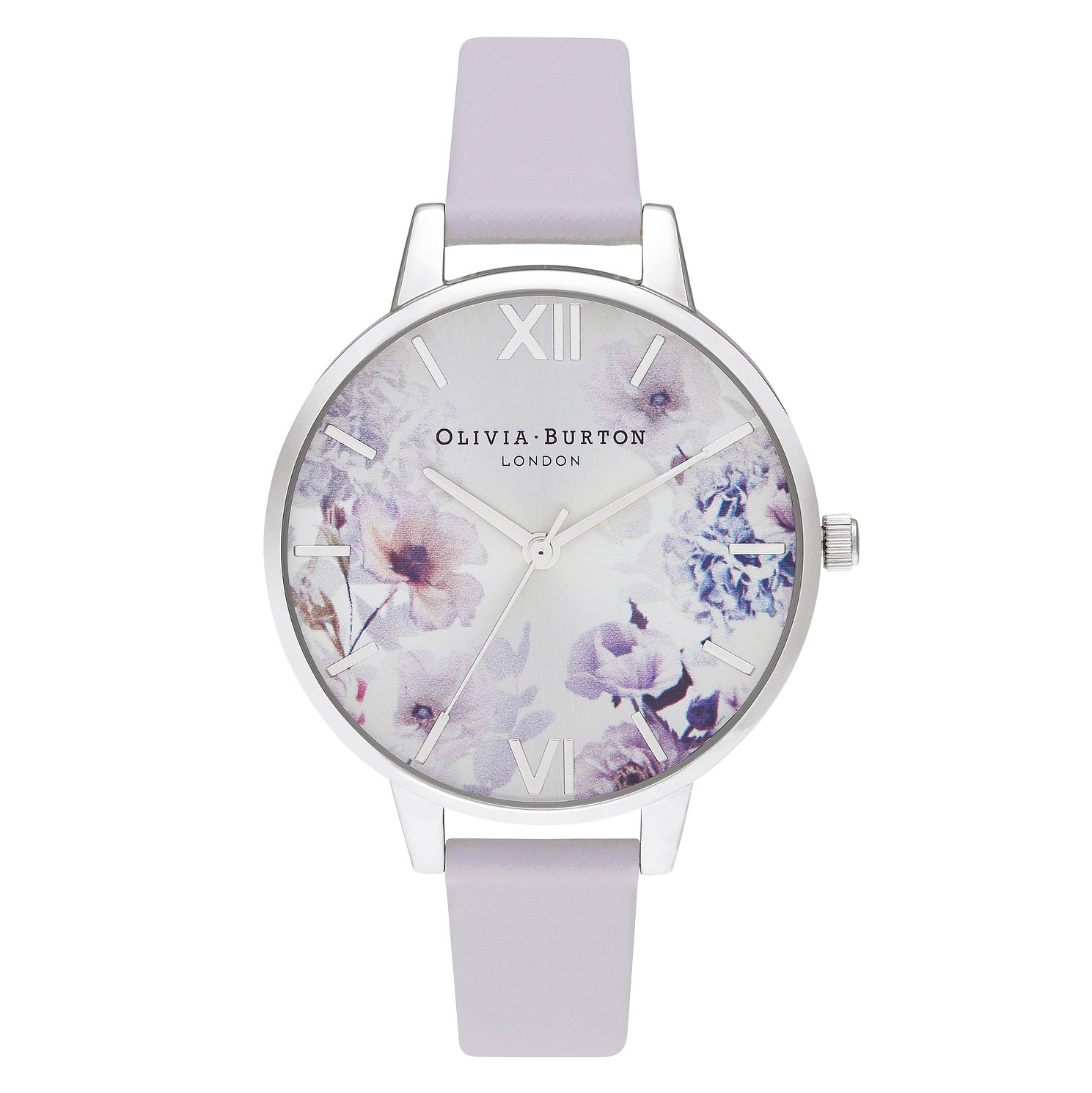 Olivia Burton Sunlight Floral Purple Leather Strap Watch - Product number 2060078