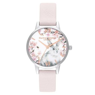 Olivia Burton Bunny Blossom Pink Leather Strap Watch - Product number 2060108