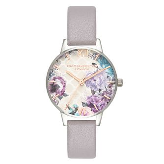 Olivia Burton Ladies' Glasshouse Grey Leather Strap Watch - Product number 2060140