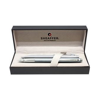 Sheaffer S100 Chrome Ball Point & Fountain Point Pen Set - Product number 2065584