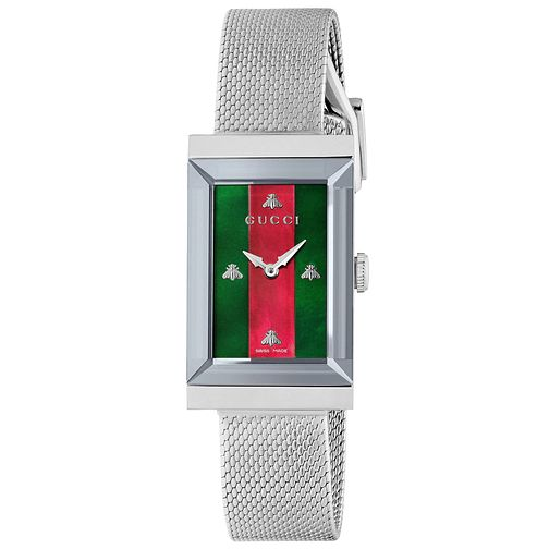 Gucci G-Frame Stainless Steel Mesh Bracelet Watch - Product number 2065754
