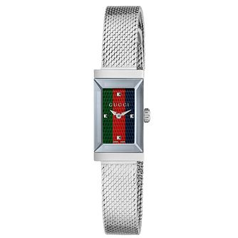 Gucci G-Frame Stainless Steel Mesh Bracelet Watch - Product number 2065770