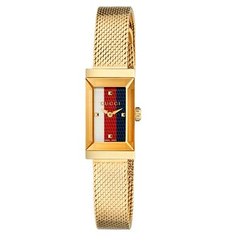 Gucci G-Frame Yellow Gold Tone Mesh Bracelet Watch - Product number 2065789