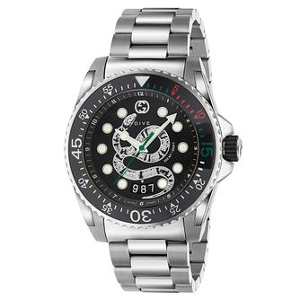 Gucci Dive Snake Dial Stainless Steel Bracelet Watch - Product number 2065800