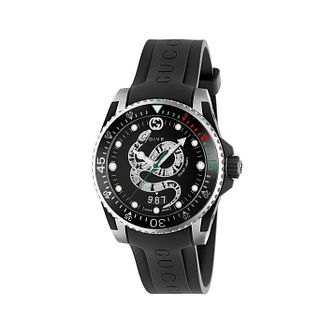 Gucci Dive Men's Snake Dial Black Rubber Strap Watch - Product number 2065843