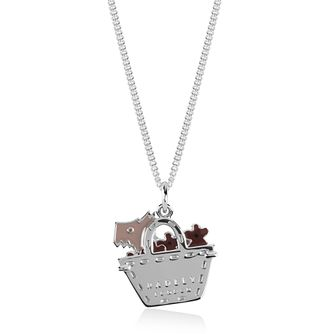 Radley Silver & Enamel Dog In A Bag Necklace - Product number 2079933