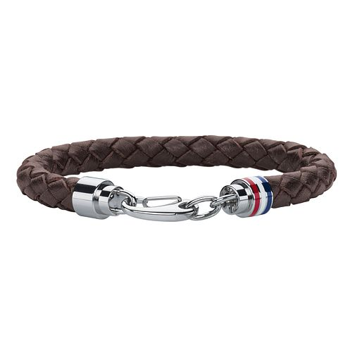 Tommy Hilfiger Men's Braided Brown Leather Bracelet - Product number 2080206