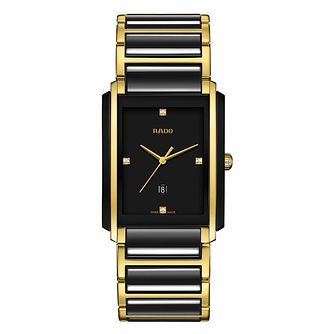 Rado men's black ceramic & gold tone bracelet watch - Product number 2087669