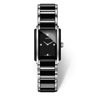 Rado ladies' stainless steel & black ceramic bracelet watch - Product number 2087898