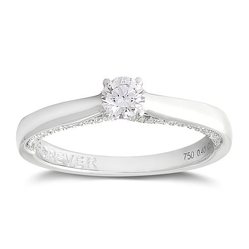 Forever Diamond 18ct White Gold 2/5ct Solitaire Diamond Ring - Product number 2094444
