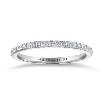 Adrianna Papell 14ct White Gold 0.15ct Diamond Eternity Ring - Product number 2096064