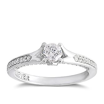 Forever Diamond 18ct White Gold 1/2ct Solitaire Diamond Ring - Product number 2096889