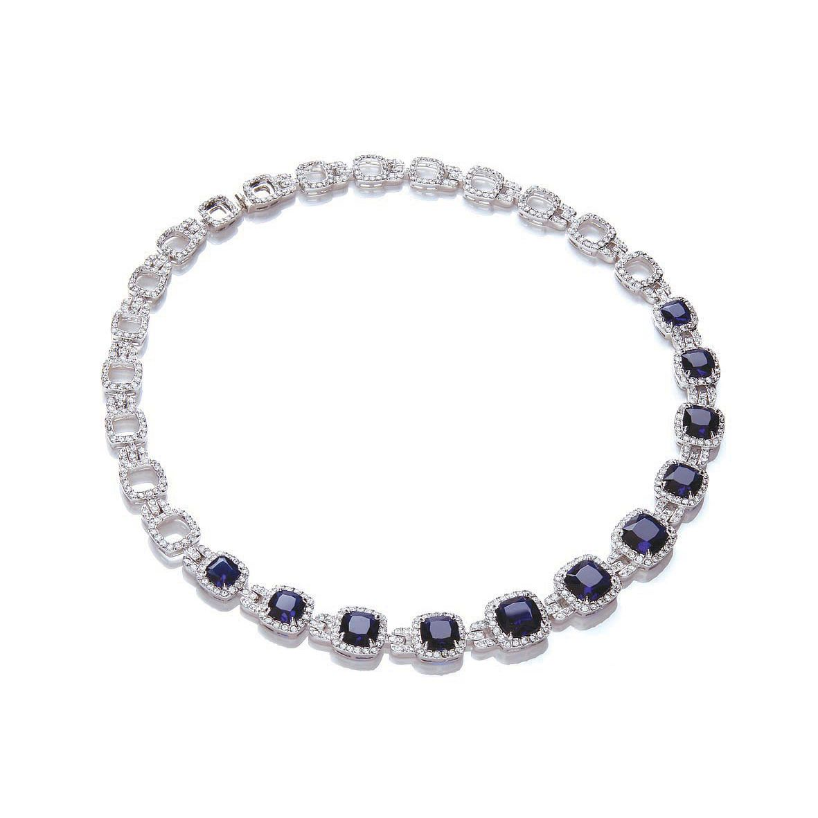 Buckley London Sapphire Blue Collar Necklace - Product number 2119390