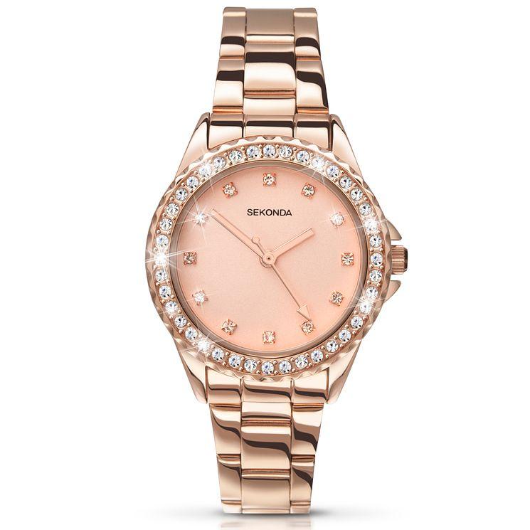 Sekonda Temptations La s Rose Gold Plated Bracelet Watch