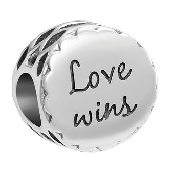Chamilia Inspirations Sterling Silver Love Wins Charm - Product number 2144530