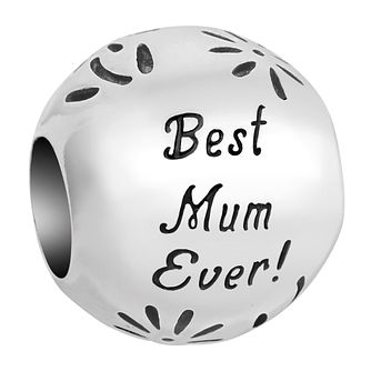Chamilia Inspirations Sterling Silver Best Mum Ever Charm - Product number 2144654