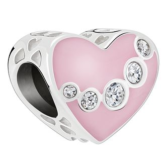 Chamilia Pink Heart Charm with Swarovski Crystal - Product number 2145901