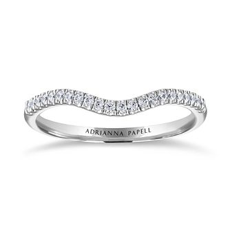 Adrianna Papell 14ct White Gold 0.15ct Diamond Curve Ring - Product number 2146487
