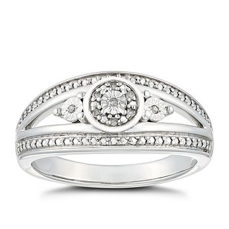 Silver Diamond Illusion Eternity Ring - Product number 2146886
