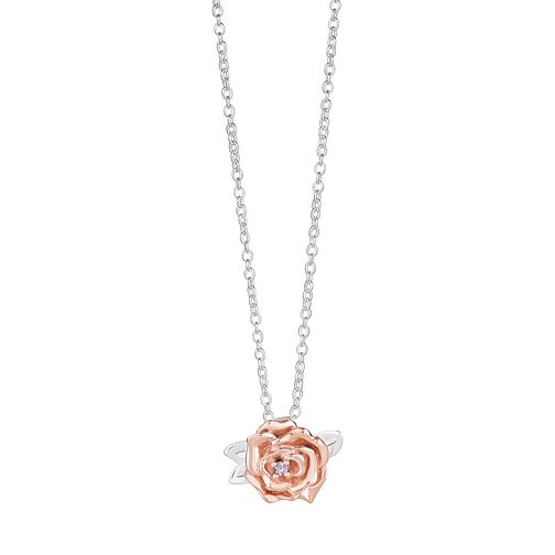 Chamilia Disney Beauty & the Beast Rose Pendant Necklace - Product number 2148536