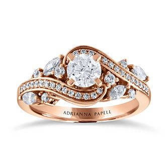 Adrianna Papell 14ct Rose Gold & 1.11ct Diamond Ring - Product number 2152274