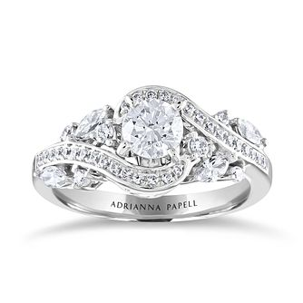 Adrianna Papell 14ct White Gold & 1.11ct Diamond Ring - Product number 2154145