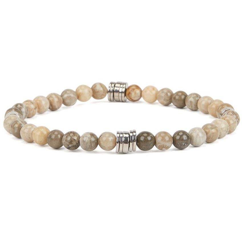 BOSS Bastian Men's Jasper Stone Beaded Bracelet - Product number 2156938