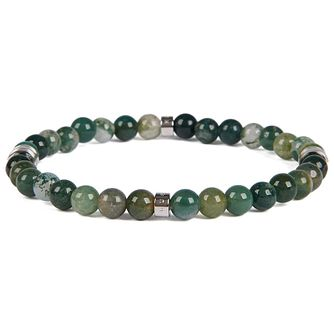 Hugo Boss Bastian Men's Agate Stone Beaded Bracelet - Product number 2156954