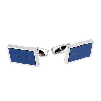 BOSS Drake Men's Navy Enamel Cufflinks - Product number 2157276