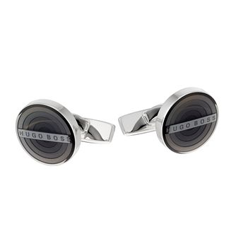BOSS Hector Men's Grey Enamel Round Cufflinks - Product number 2157284