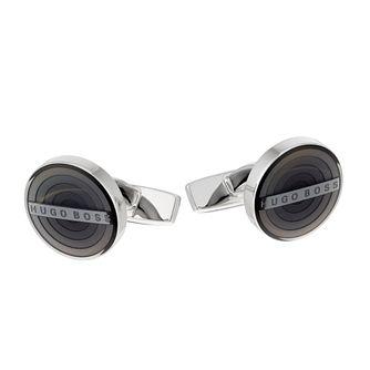 bab6c2c59491 Hugo Boss Hector Men's Grey Enamel Round Cufflinks - Product number 2157284