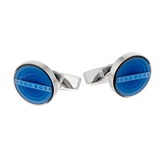 BOSS Hector Men's Blue Enamel Round Cufflinks - Product number 2157292