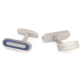 BOSS Leon Men's Navy Enamel Cufflinks - Product number 2157713