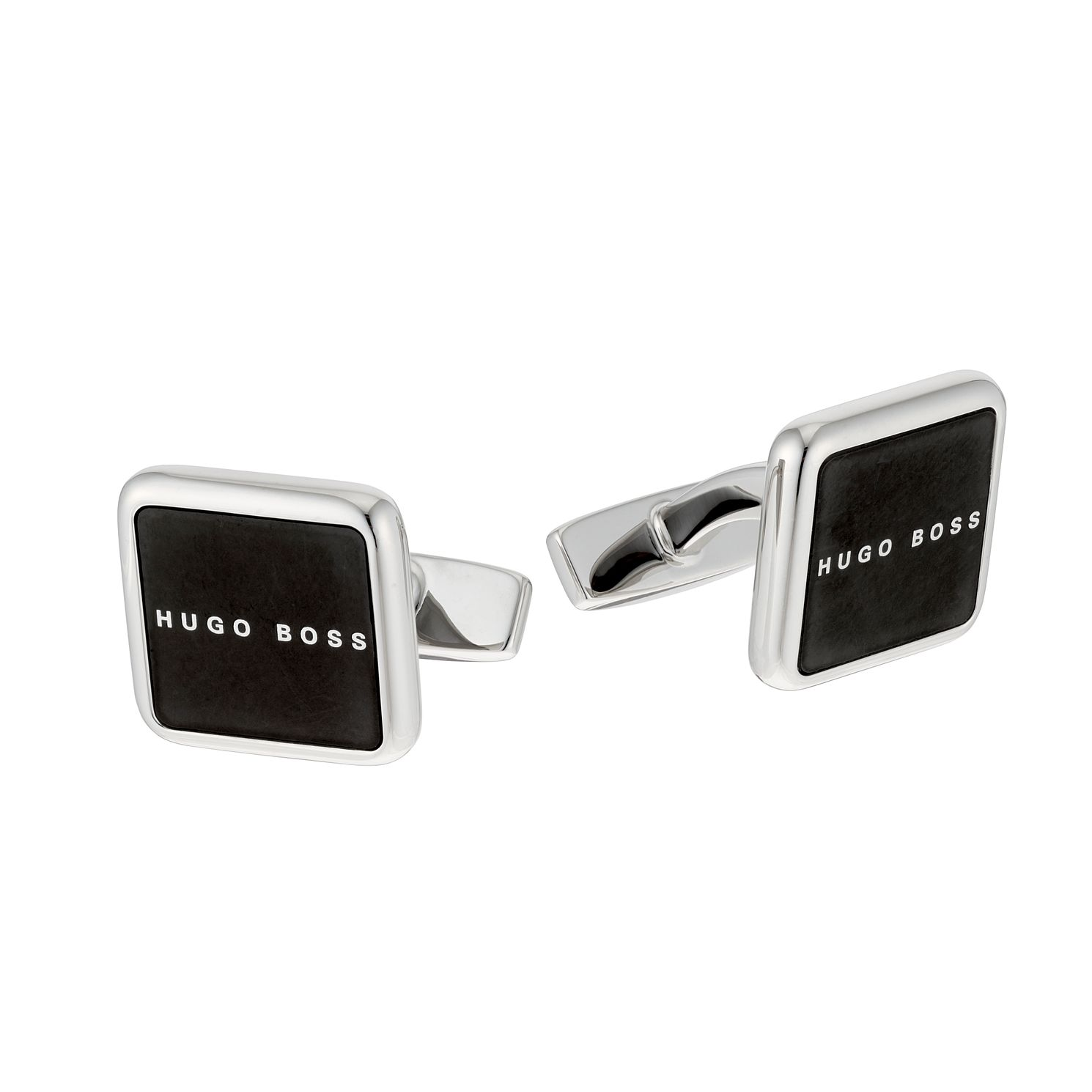 BOSS Syd Men's Black Enamel Square Cufflinks - Product number 2157756