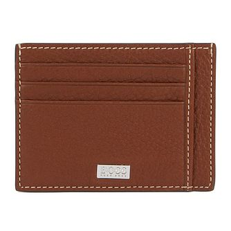 Hugo Boss Crosstown Men's Brown Leather Cardholder - Product number 2157799