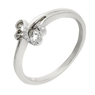 Open Hearts By Jane Seymour 9ct White Gold Diamond Ring - Product number 2158930