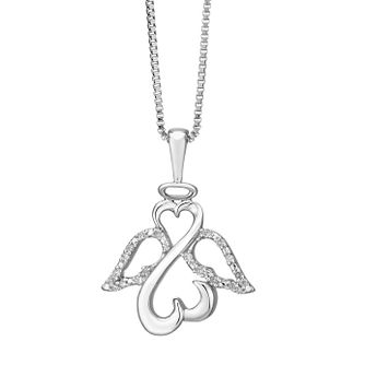 Open Hearts Angels By Jane Seymour Silver Diamond Pendant - Product number 2161567