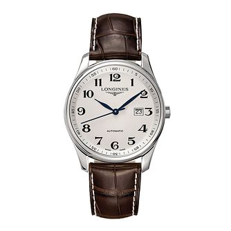 Longines Master Collection Men's Brown Leather Strap Watch - Product number 2162377