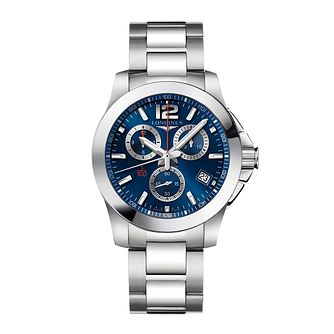 Longines Conquest Men's Chronograph Bracelet Watch - Product number 2162385
