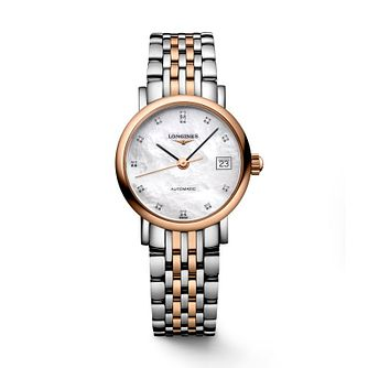 Longines Elegant Ladies' Diamond Two Colour Bracelet Watch - Product number 2162709
