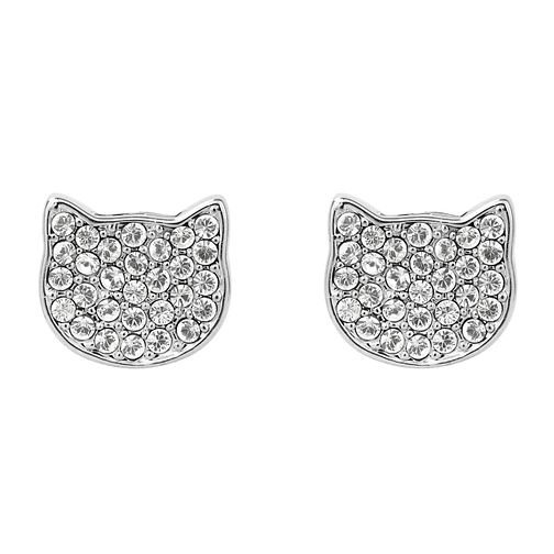 Karl Lagerfeld Swarovski Choupette Rhodium Plated Earrings - Product number 2166208