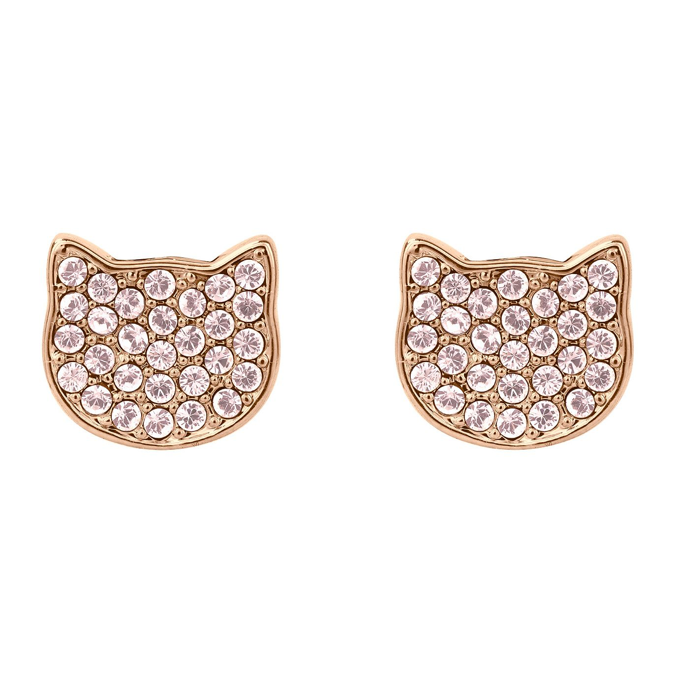 Karl Lagerfeld Swarovski Choupette Rose Gold Plated Earrings - Product number 2166429