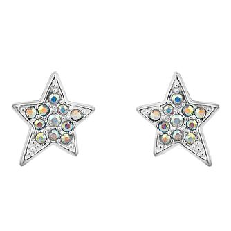 Karl Lagerfeld Swarovski Star Rhodium Plated Stud Earrings - Product number 2166488